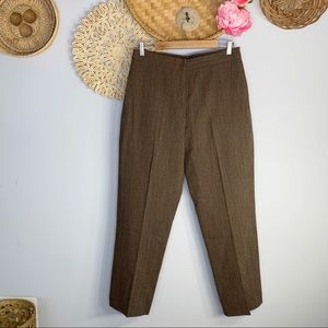 DKNY | Vintage High Waisted Wool Textured Pants